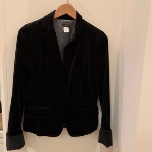 J Crew black velvet Blazer Size 8T